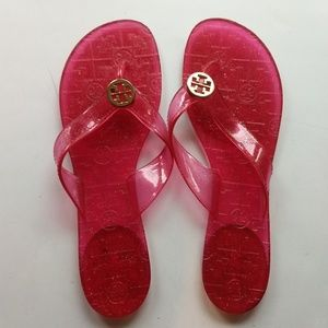 Tory Burch Thong Jelly Sandals Sz 10